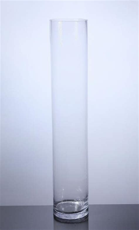 Cylindrical Glass Vases by Pc632 Cylinder Glass Vase 6 Quot X 32 Quot 4 P C Cylinder Glass