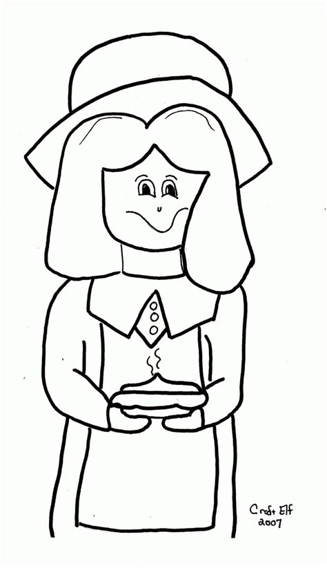 pilgrim girl coloring page coloring home