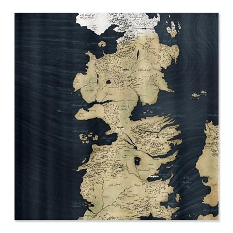 Game Of Thrones Map Shower Curtain Wish List Pinterest