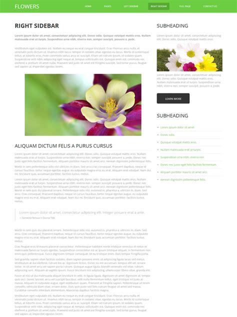 Flower Decoration Html Template Flower Website Templates Dreamtemplate Flower Website Templates