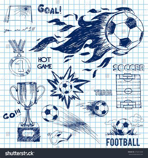 soccer doodle design elements of soccer doodle illustration 273251648