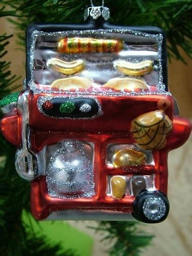new tj s glass barbecue bbq grill christmas ornament