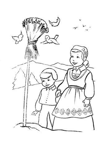 coloring pages for christmas in sweden christmas in norway coloring page supercoloring com