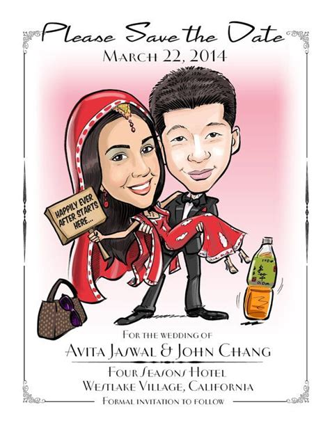 caricature wedding invitation card best 25 save the date wording ideas on