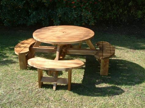 Pub Picnic Benches Round Tables Excalibur Round Picnic Commercial Outdoor Benches And Tables