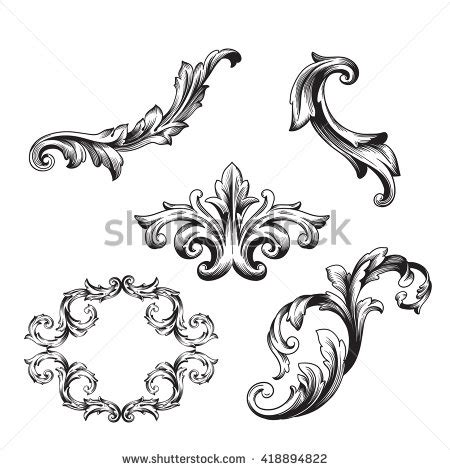baroque design frame vector baroque floral stock images royalty free images vectors