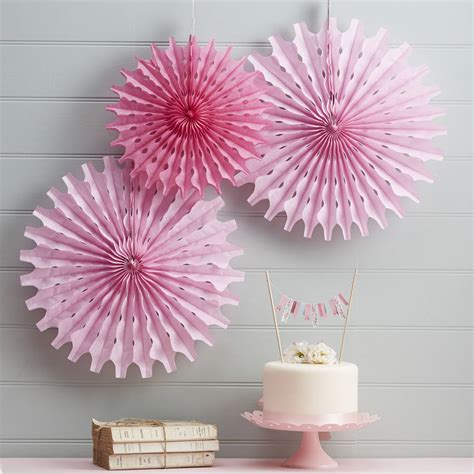 Papier Decoration by Pink Tissue Paper Fan Decorations By