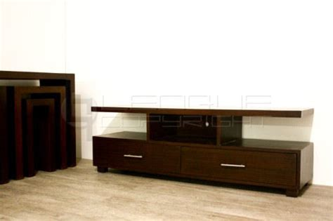 Tv Racks by Rattan Made Flat Tv Rack With 2 Big Drawers Leoque