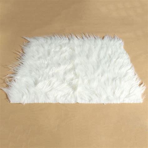 Karpet Bulu Putih white soft newborn baby plush blanket shoot props background photography faux fur 50x60cm studio