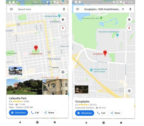 theme x google maps google maps is testing detailed material theme cards