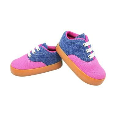 Cbb004 Sepatu Anak Sneaker Casual Santai Anak Perempuan Cewek jual shuku casual trendy sepatu anak perempuan biru pink harga kualitas