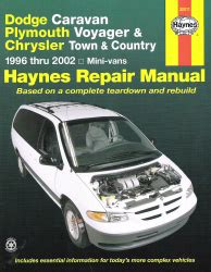small engine repair manuals free download 1996 chrysler concorde transmission control 1996 2002 dodge caravan voyager town country haynes repair manual