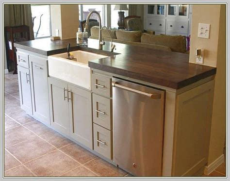 Pictures Of Kitchen Islands With Sinks | kitchen island with sink and dishwasher kitchen ideas