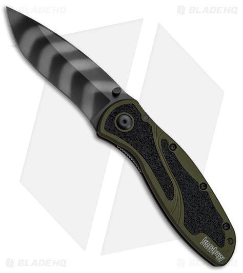 kershaw tiger stripe blur kershaw blur assisted opening knife od green 3 375 quot tiger