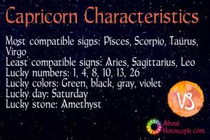 capricorn traits personality and characteristics