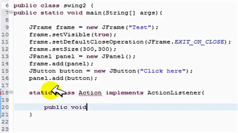 simple java swing program create action listeners with jbutton java gui swing