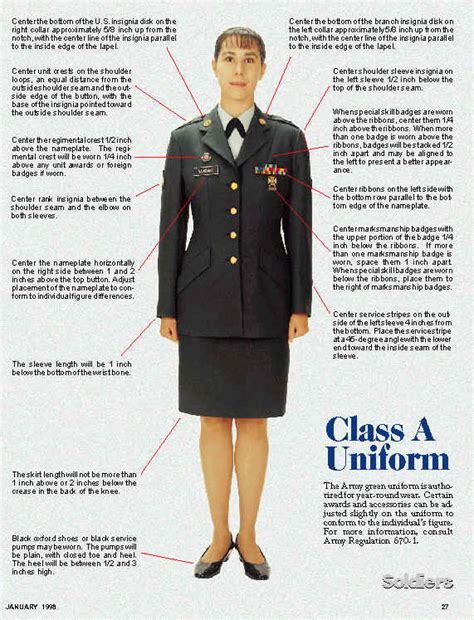 jrotc class a uniform setup female nco asu pictures to pin on pinterest pinsdaddy