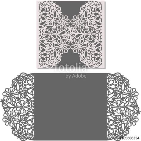 Cut Out Card Templates Free by Quot Paper Cut Out Card Laser Cut Pattern For Invitation Card