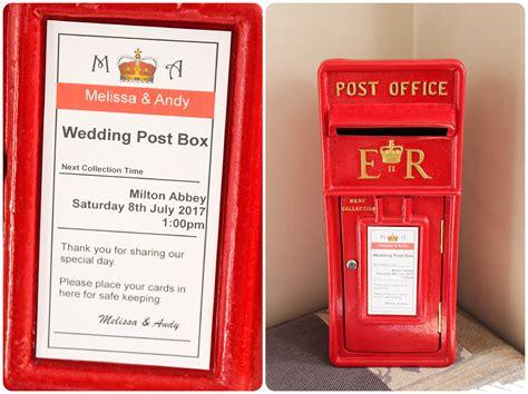 Wedding Post by Pretty Post Box Hire Buy Royal Mail Post Box