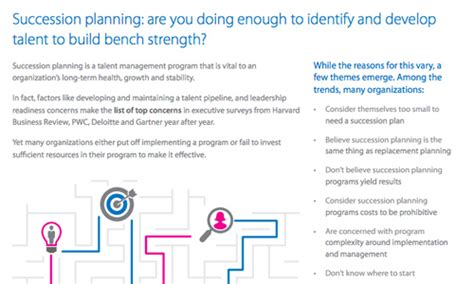 bench strength succession planning the state of succession planning are you doing enough to