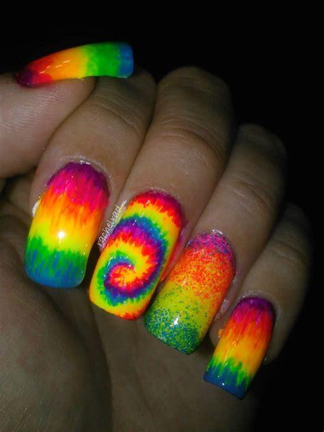 rainbow nail designs  wont  pretty designs