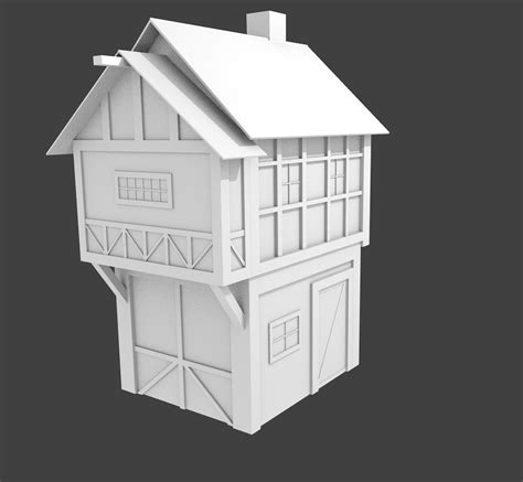 Building Houses Games medieval house 3d model obj 3ds blend cgtrader com