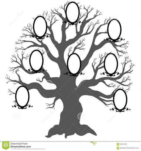 Family Reunion Tree Silhouette Clip Art Hot Girls Wallpaper Family Tree Stock Vector Illustration