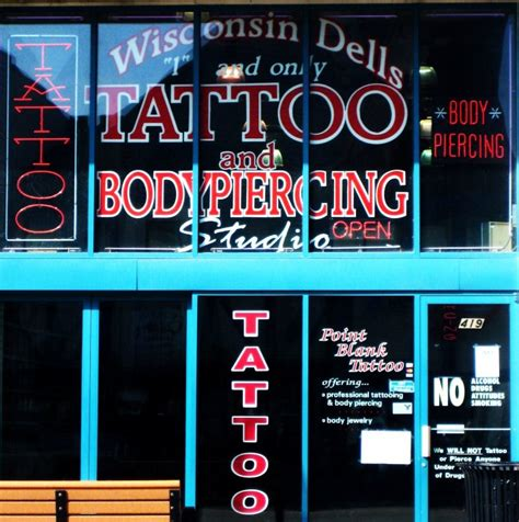 tattoo shops wisconsin dells point blank and piercing wisconsin dells