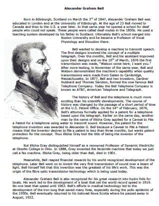 alexander graham bell biography worksheet 17 best images about inventors inventions on pinterest