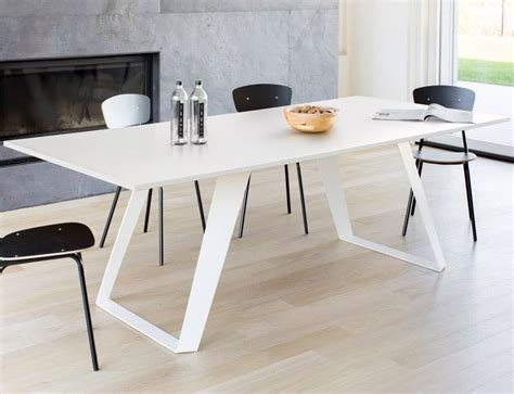 Melamine Dining Table Contemporary Dining Table Metal Melamine Laminate Mor And Dining Room Contemporary Eclipse Ozzio