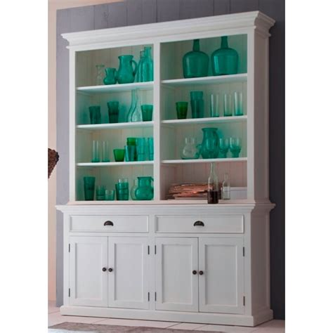 Dresser With Bookshelf by Halifax White Bookcase Hutch Dresser Akd Furniture