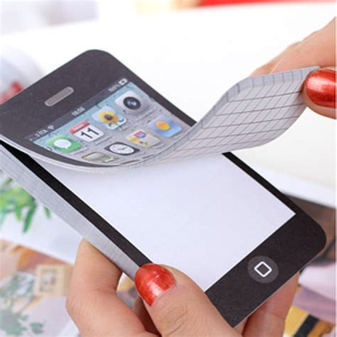Sticky Iphone 10 25 50 page iphone 4 sticky notes kawaii paper memo pad stickers planner post it school