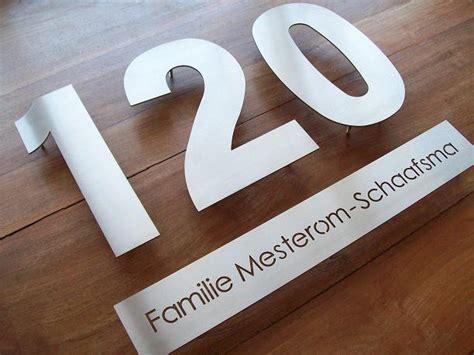2 huisnummers aanvragen huisnummer losse cijfers of letters zeer luxe uitstraling