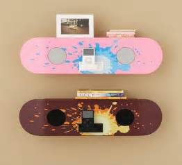 skateboard decor hold it contemporary home