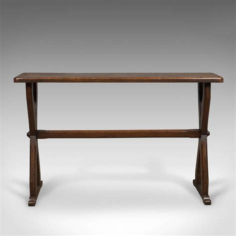 Narrow Oak Console Table Antique Console Table Narrow X Frame Oak Overtones Circa 188 For Sale On Luxify
