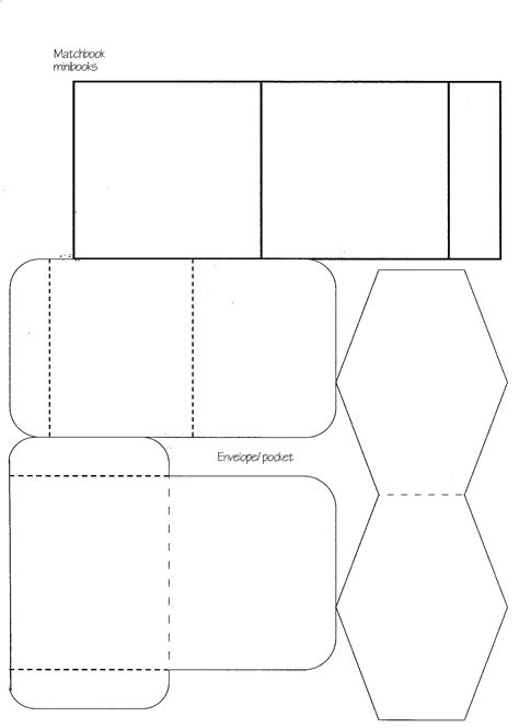 paper cards template minibook master template practical pages