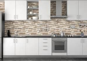 dark brown tile backsplash small kitchen interior design simple kitchen decoration using dark brown glass tile