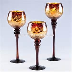 Glass Candle Goblets Gold Mercury Glass Gold Mercury Glass Goblet