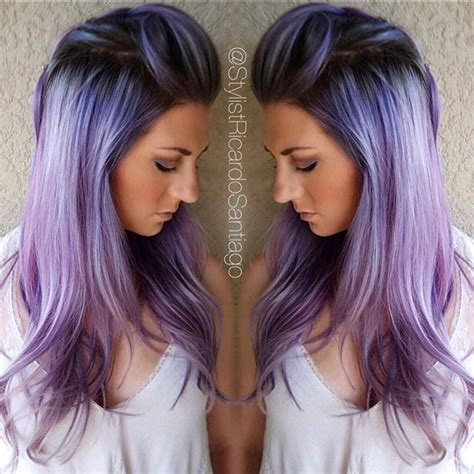 color melt with darkerr root purple hair color purple violet color melt with shadow