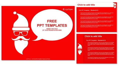 Merry Christmas With Santa Powerpoint Templates Merry Powerpoint Template