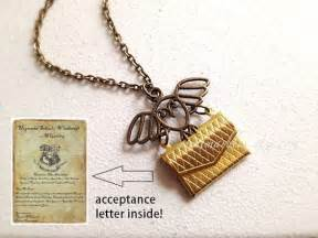Harry Potter Acceptance Letter Charm Hogwarts Acceptance Letter Necklace Hedwig Harry Potter Jewelry Owl Envelope Charm Hogwarts