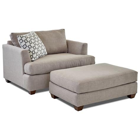 klaussner jack big chair  ottoman set dunk bright furniture chair ottoman sets