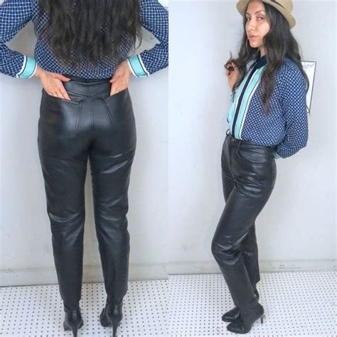 Fashionable Leather Retro Splicing Black - vintage black leather high waisted in by