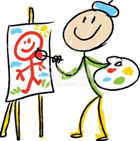 stick figure artist stock vector freeimages.com