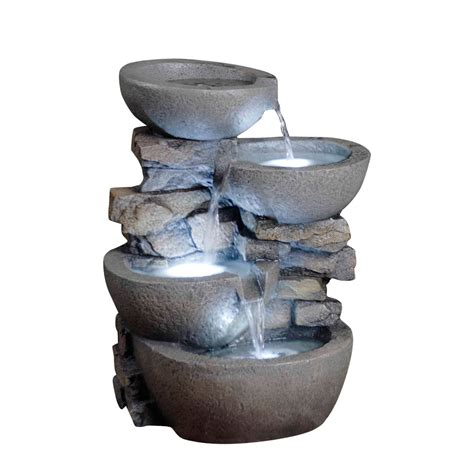kontiki water features decorative pot fountains modern