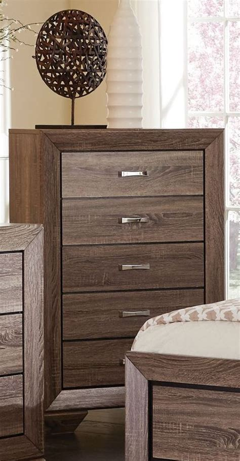 kauffman washed taupe panel storage bedroom set 204190q