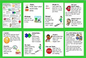 Reading strategies quot bookmark amp large focus cards for guided reading