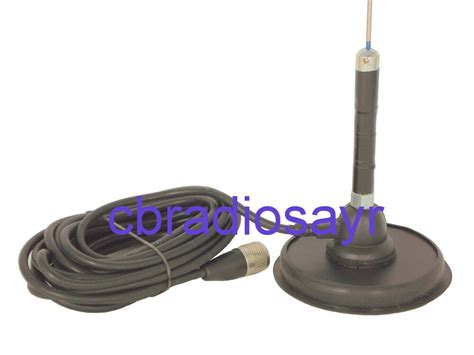 cb radio antenna kit mini trucker mag mount kit 70cm aerial and mag mount ebay