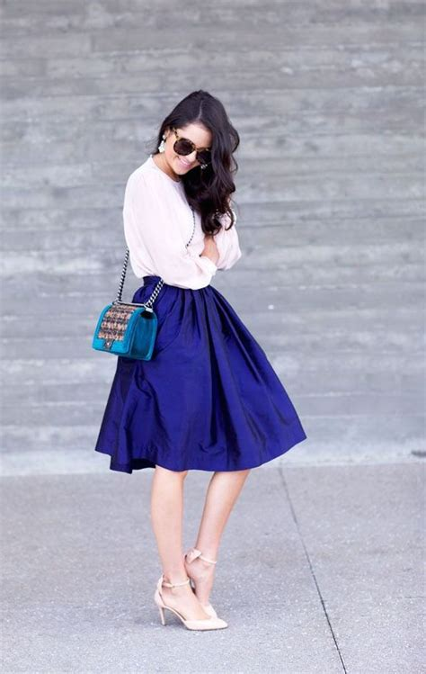 how to wear a cobalt blue skirt by 3 ways to wear