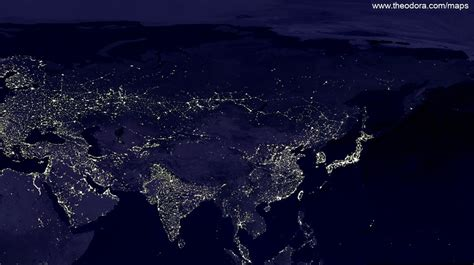 world map city lights click on a section of the image below for a size